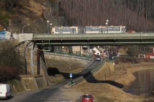 doprava decin podjezd pod mostem na přípeř _aleso