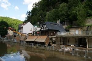 Hřensko po povodni