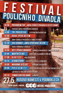 Festival Pouličního divadla a Den plný her, to je program o posledním víkendu slavností