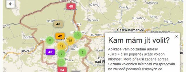 Na podnět Magistrátu města Děčín vyvinula společnost T – mapy s. r. o. aplikaci, s jejíž pomocí zjistíte, do jakého volebního okrsku patříte. Vyzkoušet si jí můžete kdykoliv v níže […]